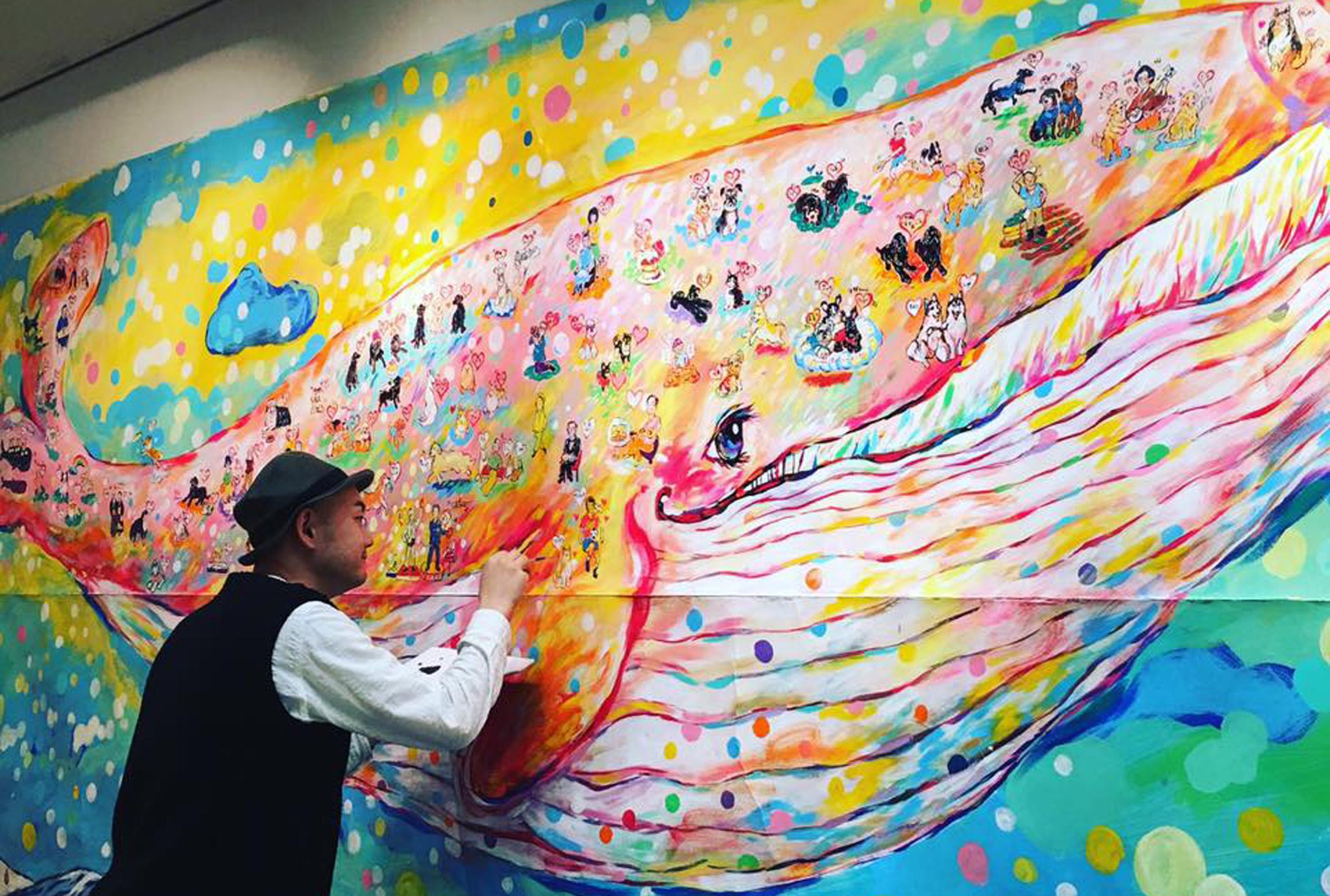 【『天国のクジラ』乗船希望のご家族募集】長友心平 展覧会『犬と楽しむアート展』